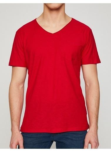 Koton V Yaka Tişört Kırmızı